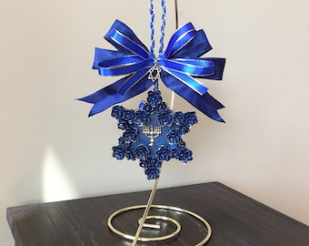 Hanukkah ornament, Hanukkah gifts, Star of David ornament, Judaica decor, interfaith ornament, festival of lights, menorah, Chanukah decor