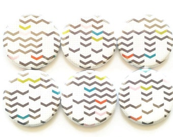 Chevron Magnets, Colored Mini Chevrons, Refrigerator Magnet, Farmhouse Decor, Country Decor, Kitchen Magnets, Fridge Magnets, School, Office