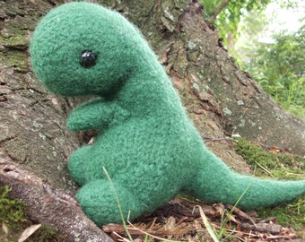 T-Rex stuffed animal, Tyrannosaurus Rex plush, dinosaur amigurumi, dinosaur plush, knit dinosaur plush, amigurumi dino, made to order
