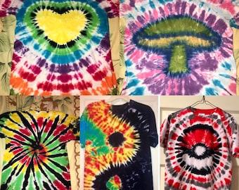 Custom Tie Dye Tee Shirts