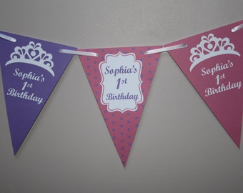 Personalised Birthday Bunting  Banner Party Decoration 1st 2nd 3rd 4th Birthday