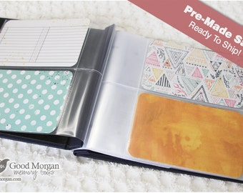 Pre-Made 1st Year Baby Memory Book - Navy - 6x4 Card Journaling Album