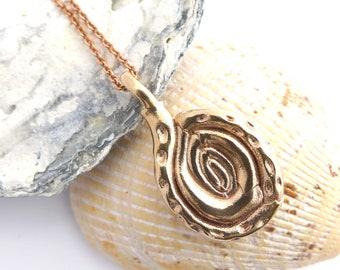 Spiroloculina pendant -  Plankton Foraminifera - Marine Biology - Science Jewelry - Ernst Haeckel Art - Fossil - Foram