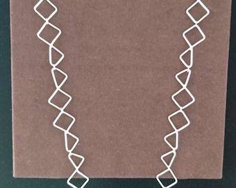 Sterling Silver Square Triangle Linked Necklet