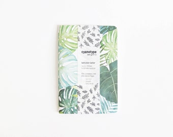 Monstera Print Softcover Cahier - 4x6 - A6