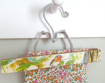 One Upcycled Vintage European Robin Hanger With a Glossy Vintage Children's Book Front