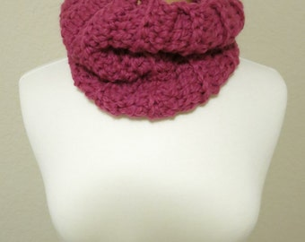 Pink Bulky Ribbed Cowl