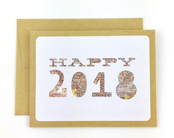 2018 New Years Cards, Client or Customer Thank You Cards for New Year, Happy New Year Cards, Happy 2018, Cards for New Year's Eve 2018