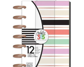 """Lovely Pastels Happy Planner 12-Month Undated Mini Planner 5.125""""X7.5"""""""