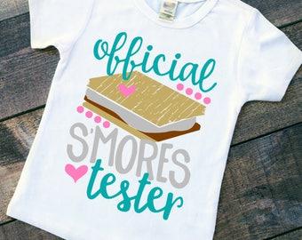 Smores shirt - s'mores tee - funny kids apparel - camping shirt - fall shirt - summer camp t-shirt - sassy girls shirt - kid brunch shirt