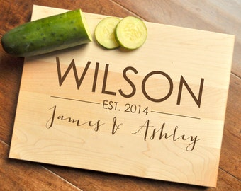 Personalized Cutting Board - Engraved, Custom Cutting Board, Personalized Wedding Gift, Housewarming Gift, Anniversary Gift, Christmas Gift
