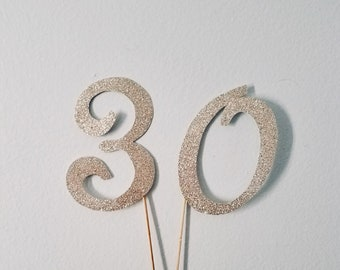 Numeral Cake/Cupcake Topper