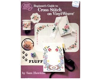 Cross Stitch on Vinyl Weave Booklet, Floral Cross Stitch Booklet, Beginner's Cross Stitch Booklet, Cross Stitch Patterns, NewYorkTreasures