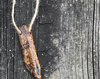 Aegean Sea Driftwood Necklace on Twine Cord