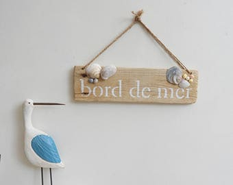 Wall hanging Driftwood - decorative edge of sea-decorative painting - mother's day gift