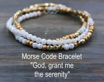 God Grant Me the Serenity Prayer Bracelet Gold Serenity Prayer Jewelry Serenity Bracelet, AA Jewelry, AA Bracelet, AA Gift for Her Bracelet