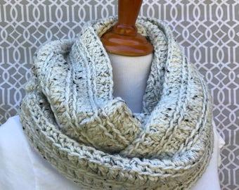 Ivory tweed infinity scarf