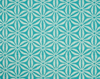 Two 20 x 20  Designer Decorative Pillow Covers for Indoor Outdoor - Batik Star Caribe Blue.