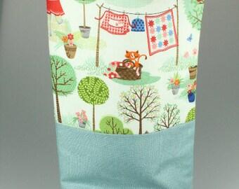 Cat's In the Gardens Zip Bag/ Pouch