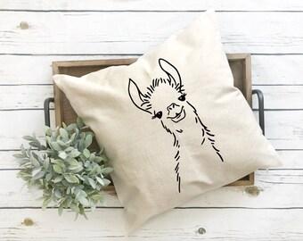Llama Throw pillow cover, llama 18 x 18 pillow cover, Funny llama pillow cover, pillow cover 18x18, pillow cover, funny llama cover