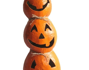 Pattern for Paper Mache Jack-o-Lantern Stack