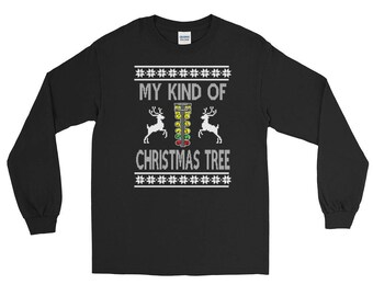 My Kind Of Christmas Tree Drag Racing Long Sleeve T-Shirt