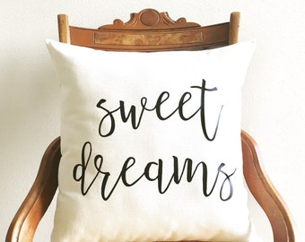 sweet dreams pillow cover, farmhouse pillow cover, fixer upper decor, new baby gift, newborn gift, nursery pillow, kids decor, nursery decor