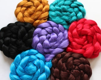 2 oz  of Viscose Bamboo in one of ten colors - Pictures reflects all 10 colors - view first 2 pictures for all colors
