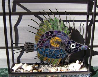 Mixed Media Mosaic Art  Fish