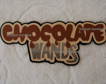 Universal Studios - Harry Potter - CHOCOLATE WANDS Die Cut Title for Scrapbook Pages - SSFF