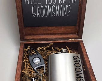 Groomsman proposal  Will you be my groomsman  Groomsman Proposal box   Best Man proposal  Groomsman Gift  will you be my best man
