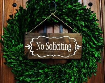 No Soliciting | No Soliciting Door Sign | No Soliciting Sign | Do Not Disturb Sign | No Solicitation Sign | No Strangers Sign | Door Decor