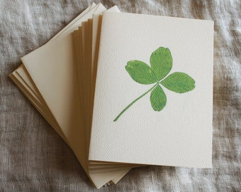 Four Leaf Clover Folded Notecards with Envelopes | St Patrick's Day Notecards | St Patrick's Day Gift | Irish Note Cards | Greeting Cards
