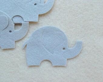8 Piece Die Cut WOOL Blend Felt Elephants