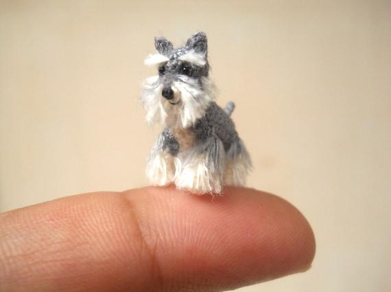 Amigurumis Perros Paso A Paso : Schnauzer miniatura micro amigurumi perro pequeño crochet