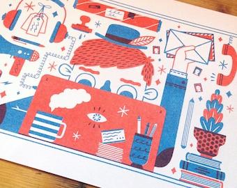 Publishing Things - Risograph Print