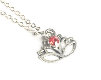 Lotus Necklace Silver Lotus Necklace Pendant Lotus Flower Necklace Lotus Jewelry Yoga Jewelry Meditation Jewelry Motivational Gifts for Yogi