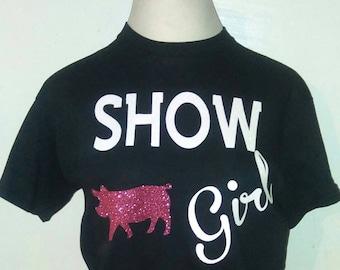 Show girl pig t shirt