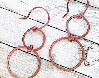 Rose Copper Earrings