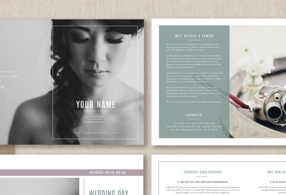 wedding photography welcome packet template pdf