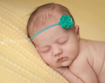Teal Headbands, Teal Baby Headband, Teal Newborn Headband, Baby Headband, Baby Headbands, Photography Prop