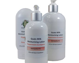 Peppermint Lotion, homemade lotion, Eucalyptus Lotion, Goat Milk Lotion, Goats Milk Lotion, Hand Lotion, body lotion, natural body lotion