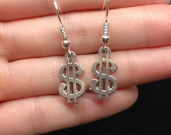 Sale!! Money 2018 Silver Earrings -- Fortune and Luck!!