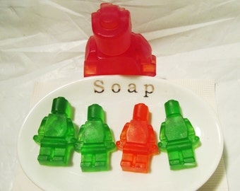 Robot Soaps, Novelty Soap, Novelty Robots Party Favor, Fragrance Free , Detergent Free , Fun Kids Soap , Skin Friendly