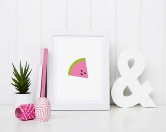 Sweet watermelon printable art - nursery, kids room, instant download