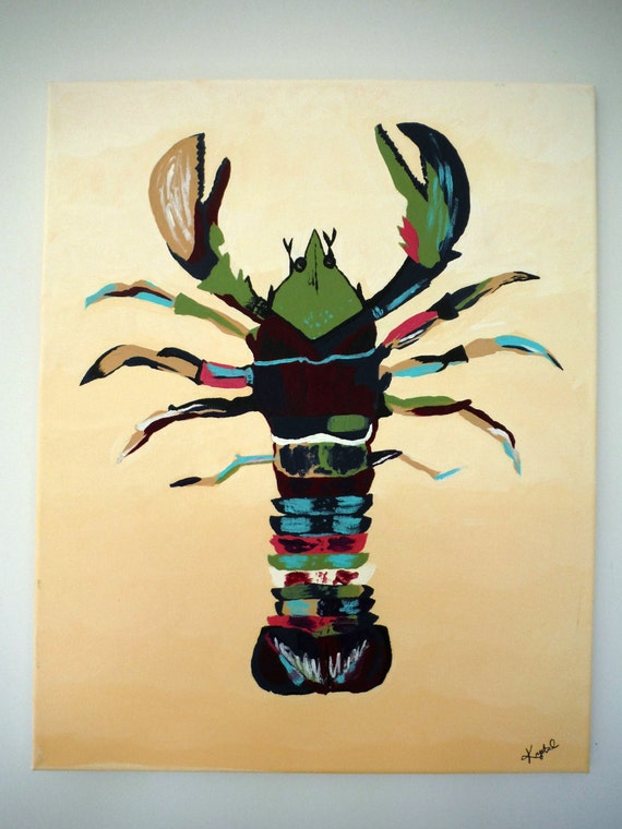 Lobster Painting Nautical Art Original Acrylic Painting