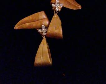 Exotic Vintage Copper Earrings