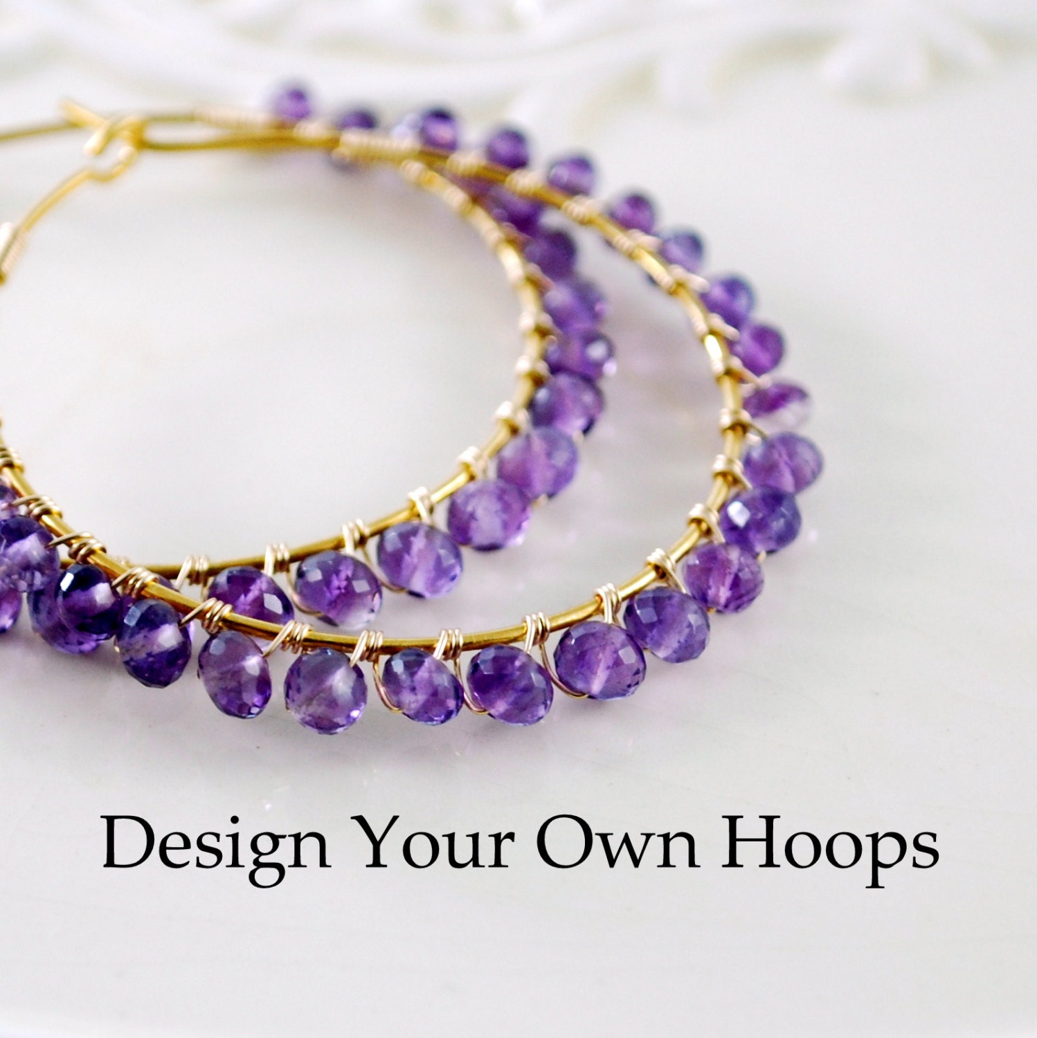 Design Your Own Hoop Earrings Sterling Silver or Gold