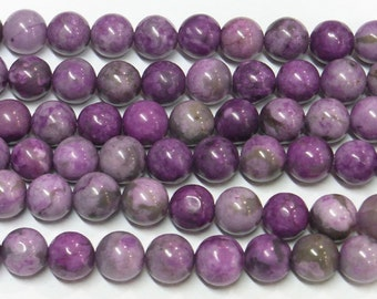 6mm Round Purple Phenix Stone Beads Genuine Natural  6343 15''L Semiprecious Gemstone Bead Wholesale Beads Supply