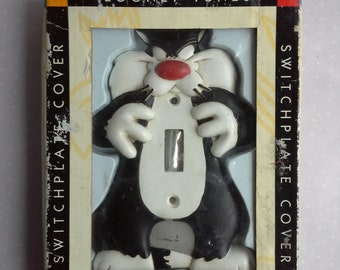 Sylvester the cat from Looney tunes cartoon switch cover